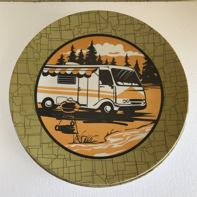 Acrylic Trailer Park Camping Dinner Plates, Set of Eight For Sale - Image 7 of 7