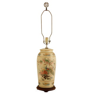 Japanese Style Porcelain Table Lamp For Sale