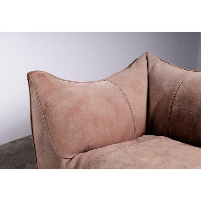 Mid-Century Modern 1970s Original Buffalo Leather Bambole Loveseat Sofa by Mario Bellini for B&b Italia For Sale - Image 3 of 9