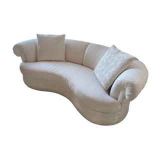 Sherrill Furniture Custom Made White Upholstered Sofa- 2 Available For Sale