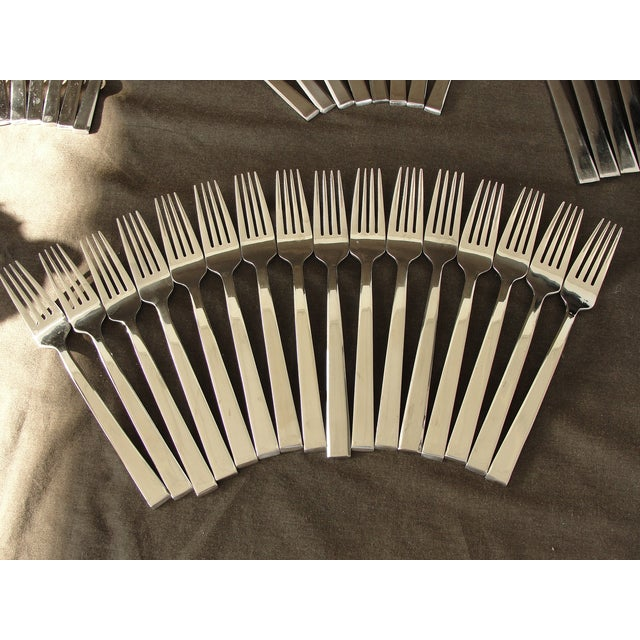 Dansk Meridian Stainless Flatware - 57 Pieces For Sale - Image 5 of 9
