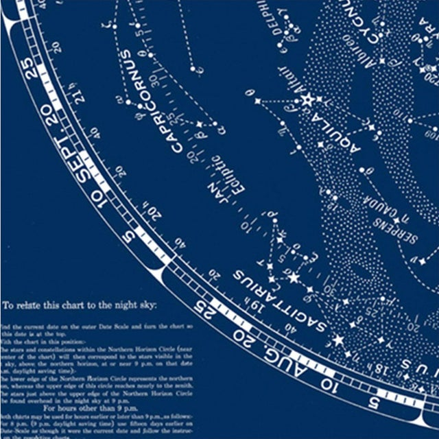 Contemporary Rand McNally Star Chart Northern Skies Print For Sale - Image 3 of 6