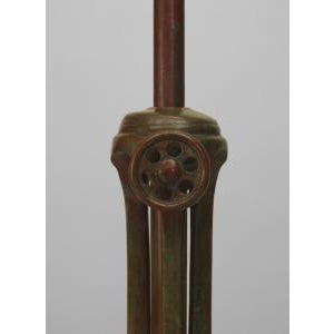 Metal Mid 20th Century American Mission Bronze Floor Lamp For Sale - Image 7 of 11
