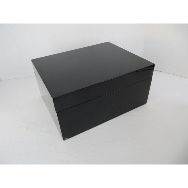 Minimalist Black Lacquer Box - Image 2 of 6