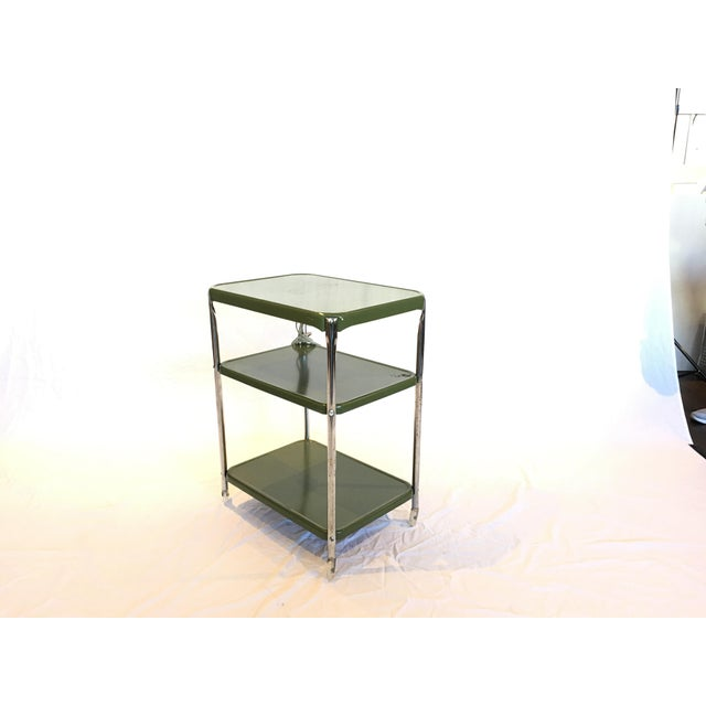 Metal Cosco Rolling Bar Cart - Image 3 of 5