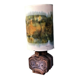 1960s Vintage Francis Pasinato Italian Hand-Painted Lamp For Sale