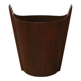 Einar Barnes p.s. Heggen Walnut Waste Paper Basket For Sale
