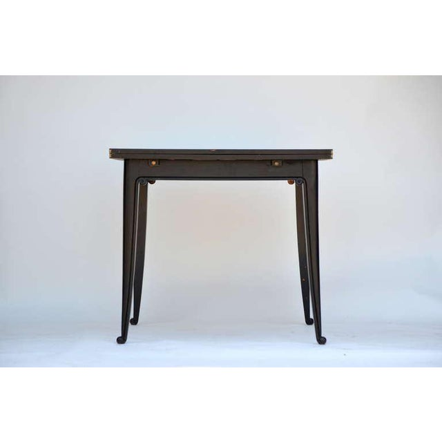 Chic Ebonized French 1940s Folding Center or Dining Table For Sale - Image 10 of 10
