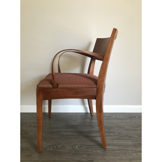 Contemporary Knoll Crinion Cherrywood Ribbon-Band Arm Side Chairs - Set of 4 For Sale - Image 3 of 11