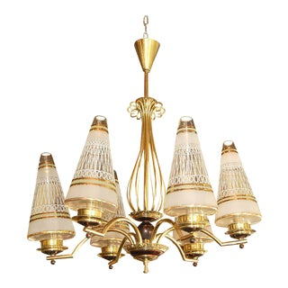 1940s Vintage French Chandelier For Sale
