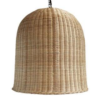 Raw Wicker Dome Lantern XL For Sale