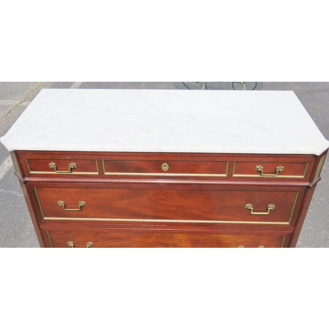 Jansen Style Marble Top Commode - Image 3 of 5