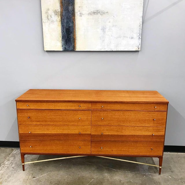Mid-Century Modern Newly Refinished 8 Drawer Mahogany Dresser by Paul McCobb for Calvin For Sale - Image 3 of 12