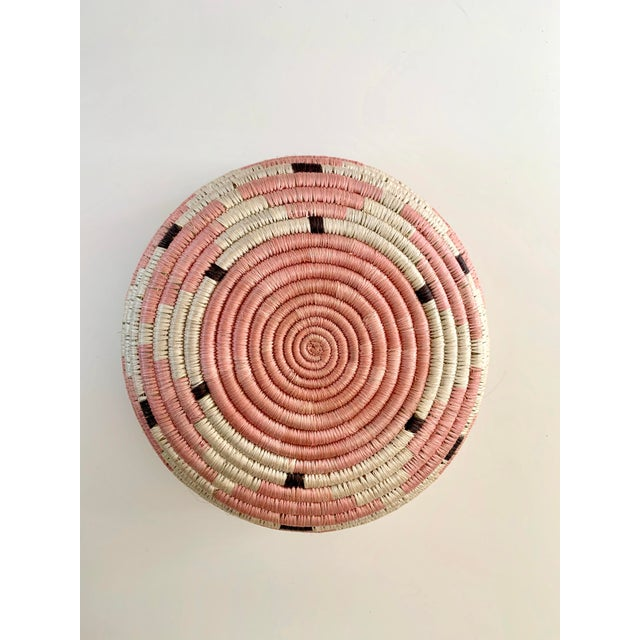 Pale Blush Sozi Catch All Woven Bowl For Sale - Image 9 of 10