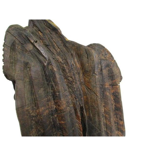 """Wood """"Ol' Saddlebags"""" Folk Art Carved Sculpture For Sale - Image 7 of 10"""