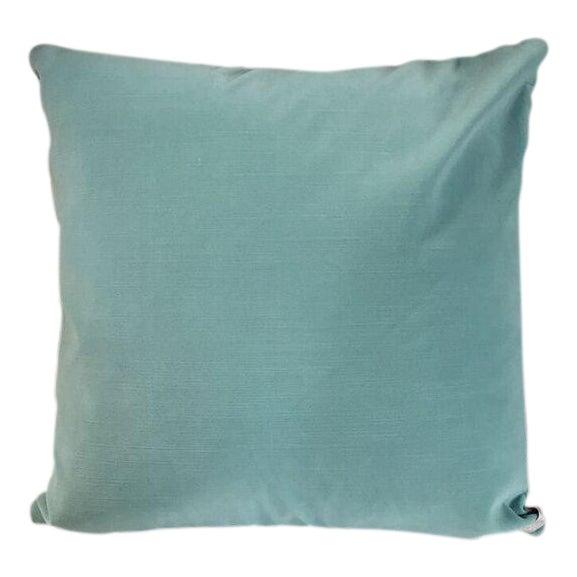 Kim Salmela Light Blue Velvet Pillow For Sale