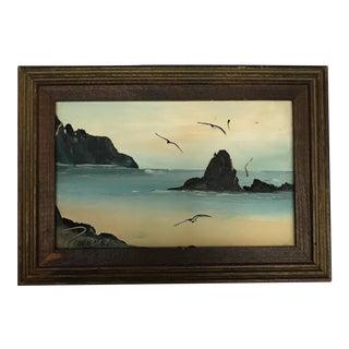 Miniature Seaside Oil Painting