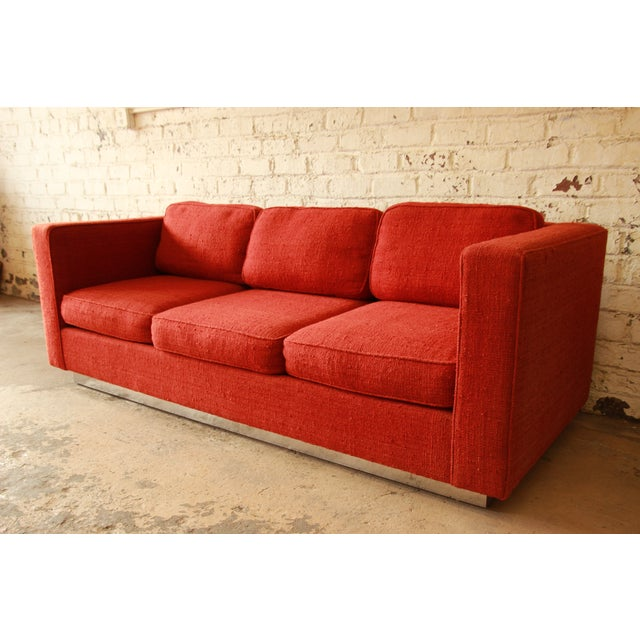 Milo Baughman Style Floating Sofa - Image 3 of 8