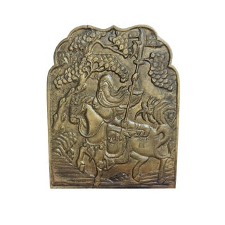 Vintage Chinese Bronze Plaque For Sale
