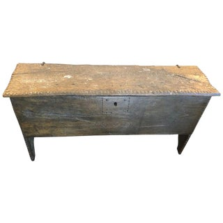 British Wooden Coffer Trunk For Sale