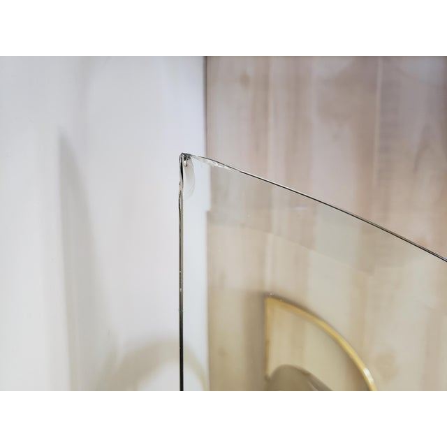 1970s 1970s Hollywood Regency Brass Glass Rams Head Console Table For Sale - Image 5 of 12
