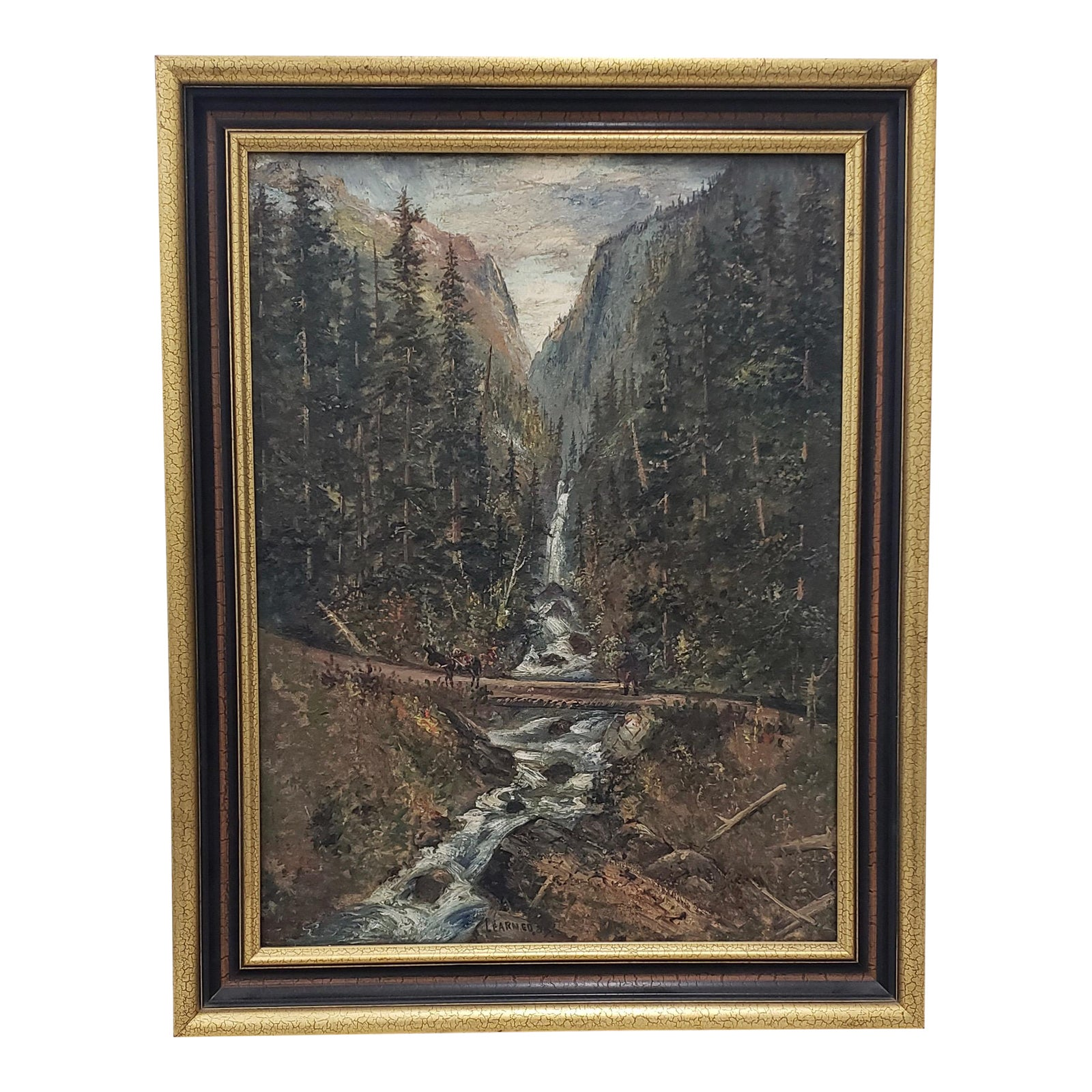 Late 19th Century Boulder Canyon Original Oil Painting By Learned C 1887 Chairish Srsly advise against you dudes following, but it's ur choice. chairish
