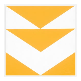 "Medium ""Yellow Arrow Down"" Print by Jason Trotter, 38"" X 38"""