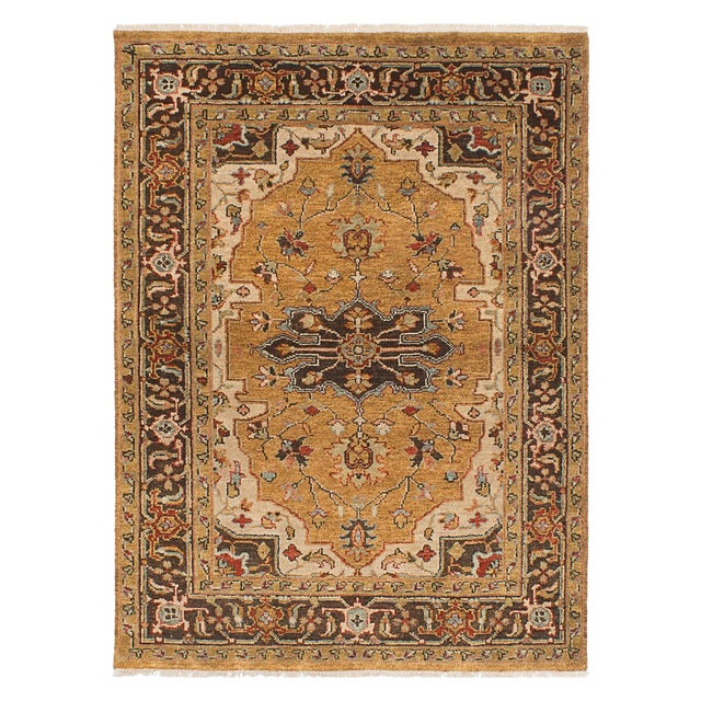"Serapi Hand-Knotted Indian Rug - 5'0"" x 6'10"" - Image 1 of 3"