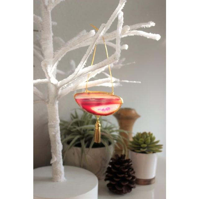 Modern Boho Agate Holiday Ornaments - Set of 6 - Image 8 of 10