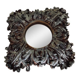 Vintage White Washed Gilt Mirror For Sale