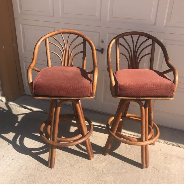 1960s Bentwood Swivel Bar Stools - a Pair - Image 8 of 8