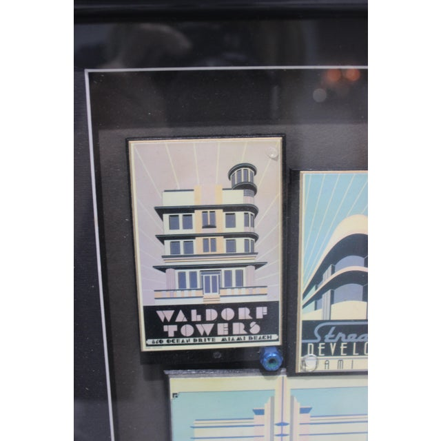 """Art Deco """"By the Sea"""" Collage Streamline Re-Development of Art Deco Architecture Miami Beach by Fischer For Sale - Image 3 of 11"""