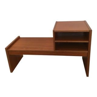 Teak Telephone Table / Bench