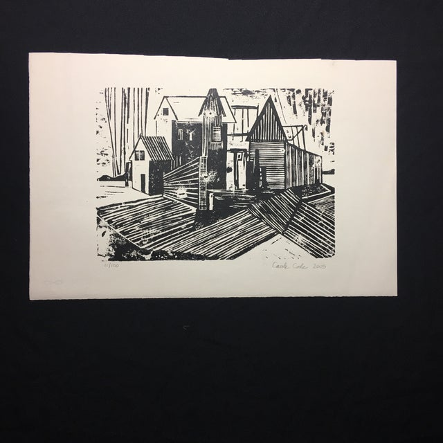 Arts & Crafts Woodblock Print Carole Cole Limited-Edition, 2005 For Sale - Image 3 of 7