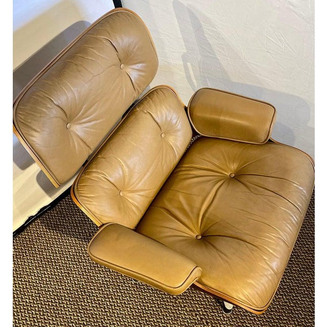 Charles Eames, Herman Miller Midcentury Chair and Ottoman For Sale - Image 9 of 13