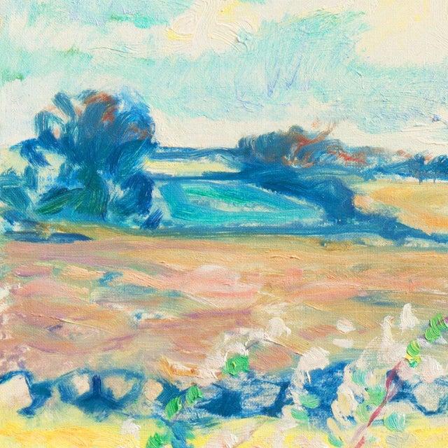'Sunlit Spring Landscape', by Ejnar Kragh, Paris, Danish Post Impressionist For Sale - Image 6 of 10