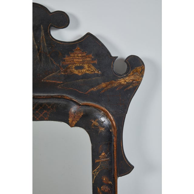 Glass 19th Century English Chinese Chinoiserie Mirror For Sale - Image 7 of 8