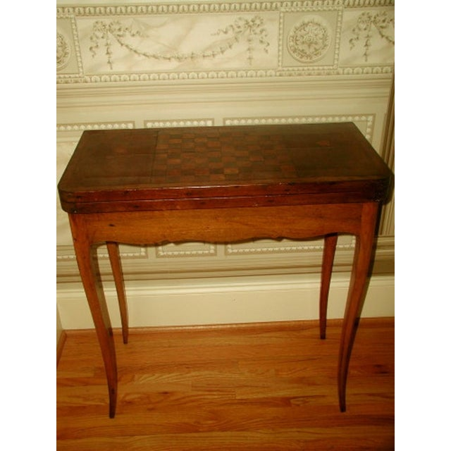 C.1850 French Game Table Inlaid Walnut Fruitwood - Image 2 of 10