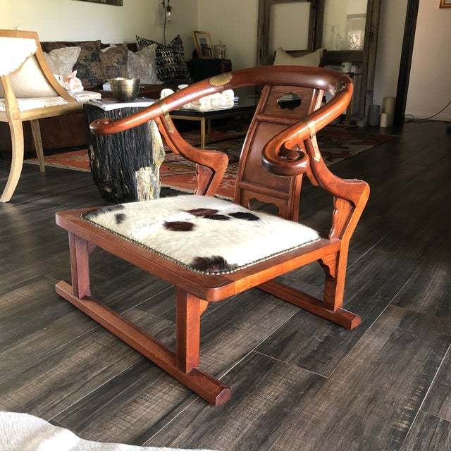 "Rare Michael Taylor ""Far East"" collection chair made for Baker Furniture. In unbelievable condition. Beautiful brass..."