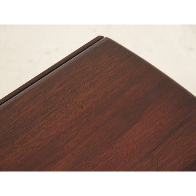 Kittinger 1960s Queen Anne Kittinger Colonial Williamsburg Mahogany Drop Leaf Table For Sale - Image 4 of 12