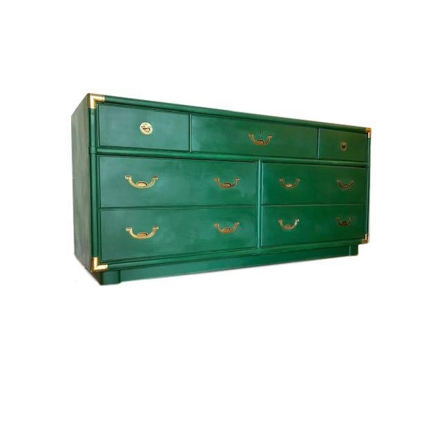 1960s Campaign Drexel Accolade Dresser For Sale - Image 10 of 10