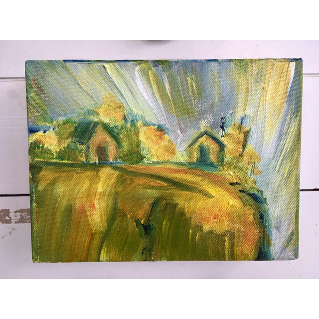 Abstract Bucolic Countryside Oil Painting For Sale In San Francisco - Image 6 of 6