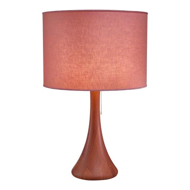 Dyrlund Wood Table Lamp, Denmark, 1960s For Sale