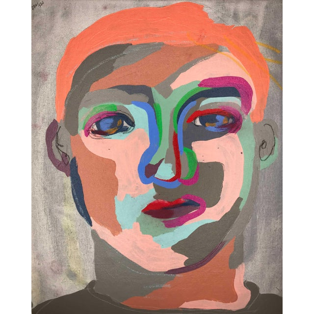 This is a collection of 6 abstract portraits by contemporary artist Linda Ward of Detroit. This collection includes #220,...