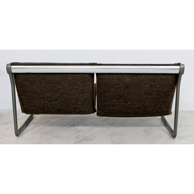 Mid-Century Modern Hannah Morrison Knoll Two-Seat Sling Sofa & Ottoman - Set of 2 For Sale In Detroit - Image 6 of 10