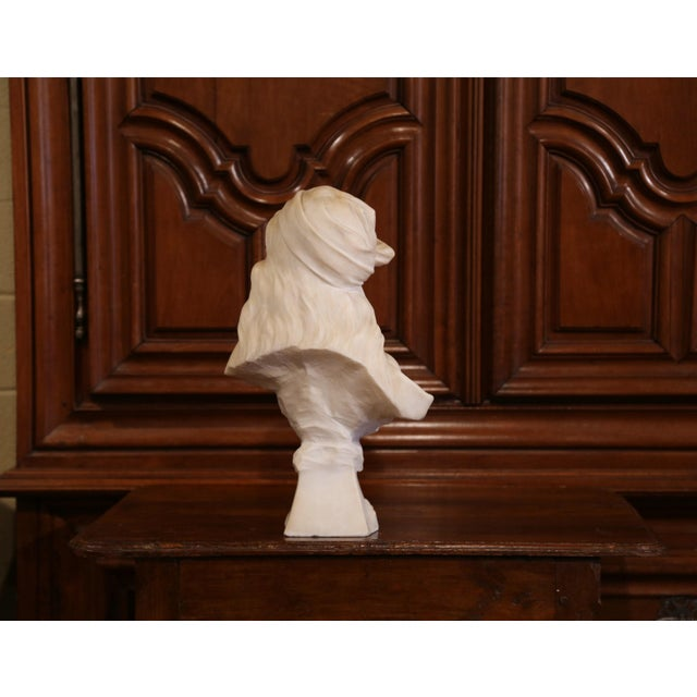 """19th Century French Marble Bust of Young Beauty """"Miarka"""" Signed E. Villanis For Sale In Dallas - Image 6 of 10"""