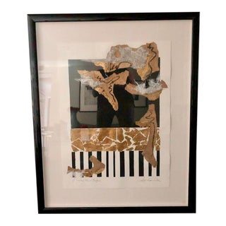 "Late 20th Century Susan Cohen ""Rain Forest Rhythm"" Original Mixed Media Collage For Sale"