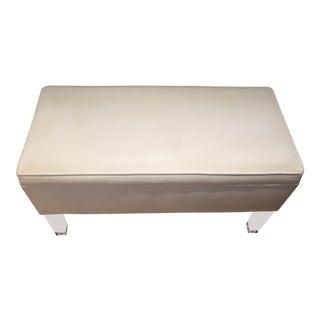 Skyline Furniture White Velvet Storage Bench With Hinged Top
