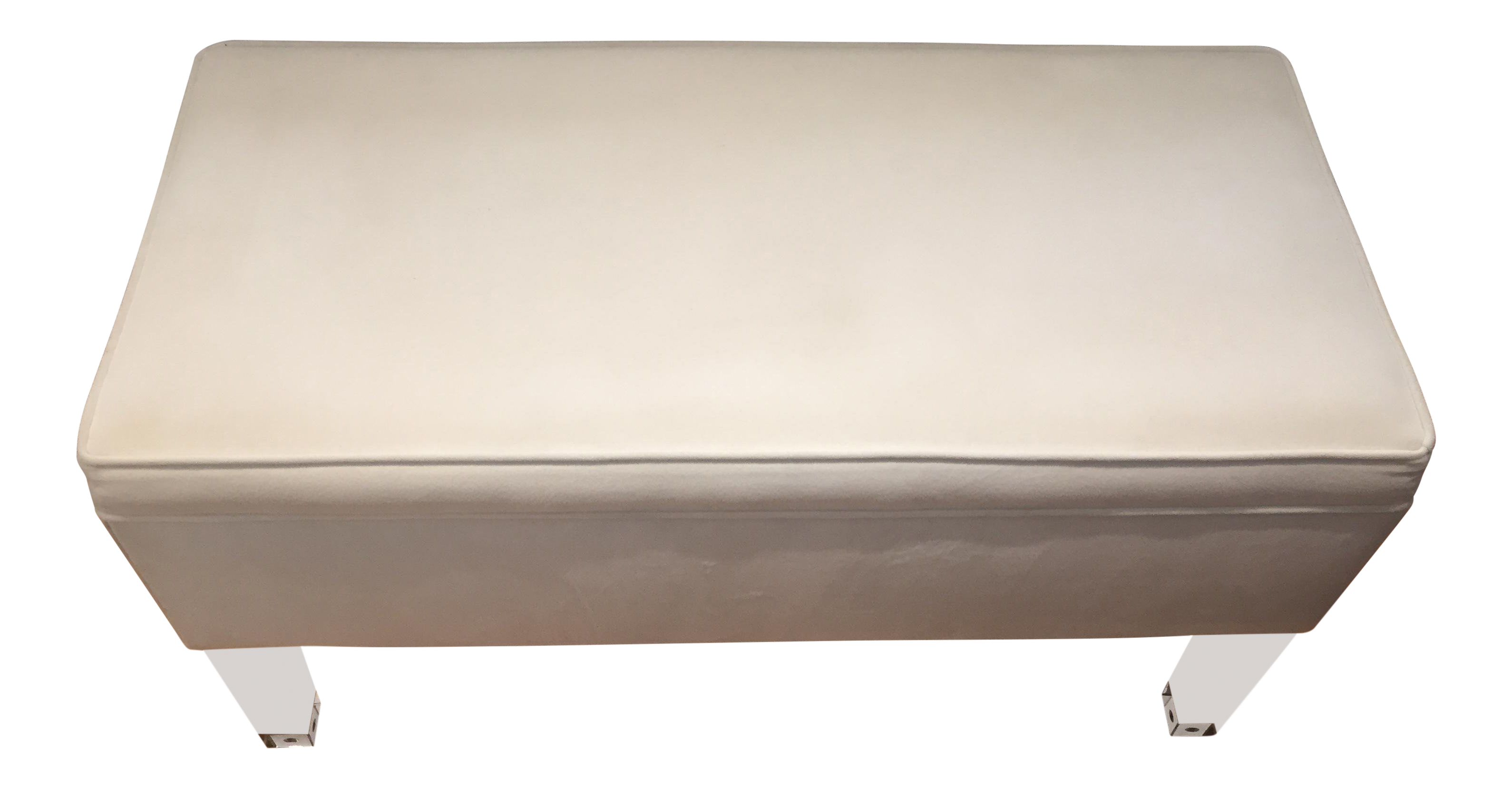 Skyline Furniture White Velvet Storage Bench With Hinged Top