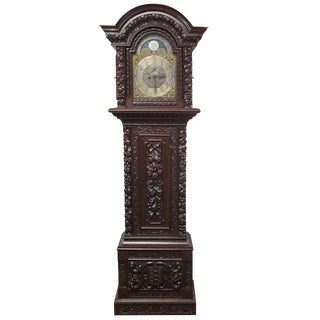 Longcase Kemp Brothers Grandfather Clock For Sale